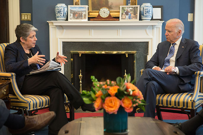 UC President Napolitano with Vice President Biden