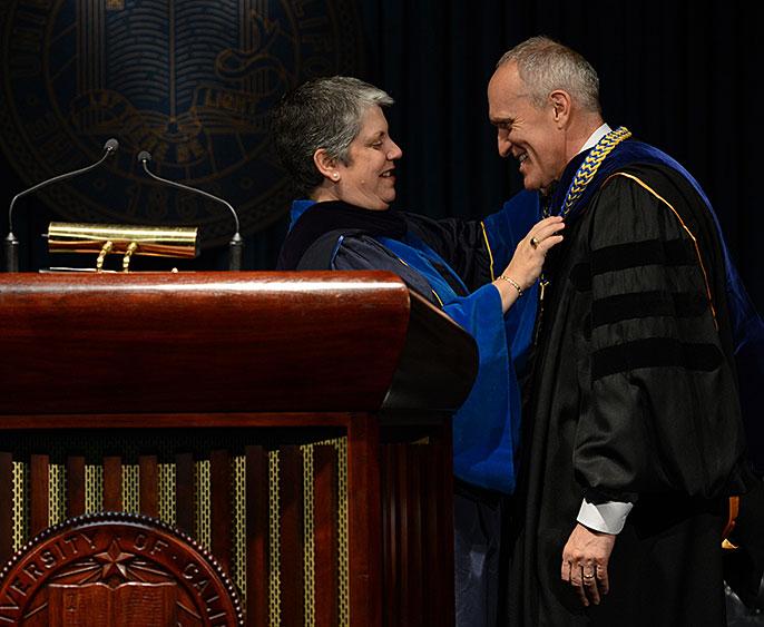 UC President Napolitano and UC Riverside Chancellor Kim Wilcox