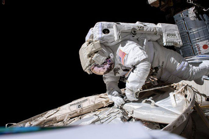 Astronaut on a spacewalk