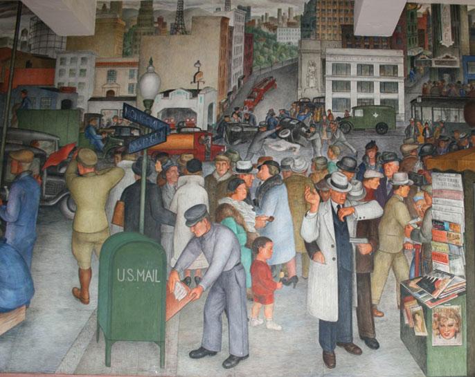 'City Life' mural