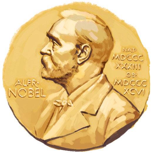 Nobel prize illustration
