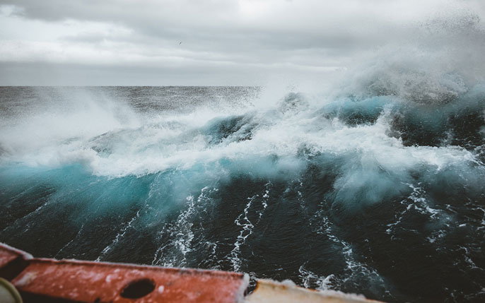 Southern Ocean storm