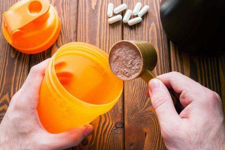 Protein power and supplement pills