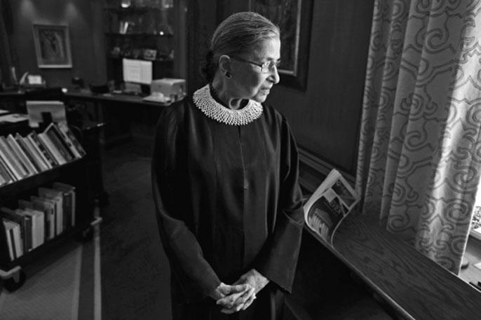 Ruth Bader Ginsburg in SCOTUS robe