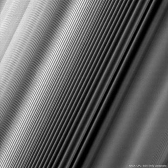 Saturn's B ring in close-up