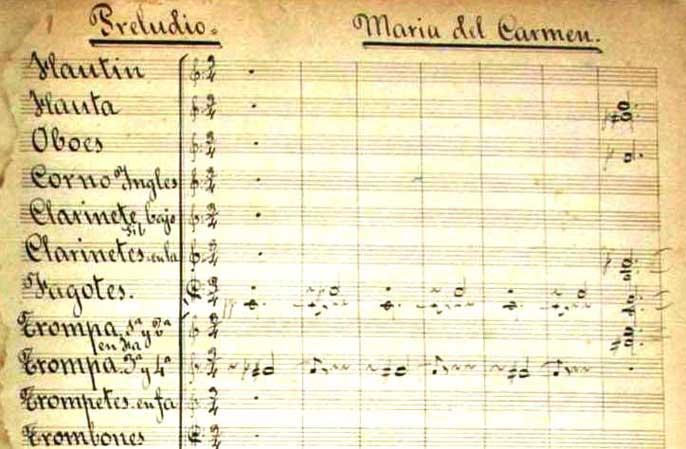 Maria del Carmen notes