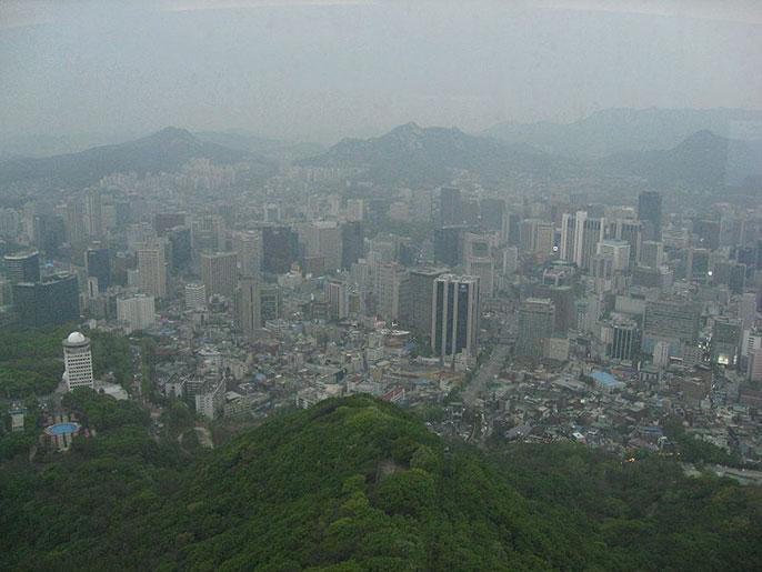 smoggy Seoul, South Korea