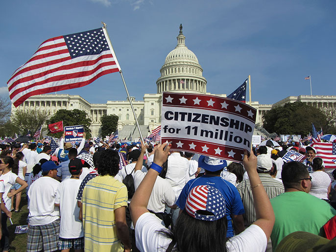 immigration demonstration, US Capitol