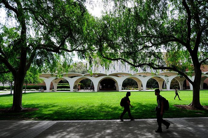 lush lawn, UC Riverside