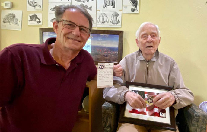 Ross and Milton Hildebrand together at hospice