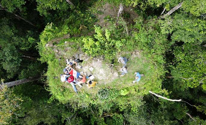 aerial view, El Zotz, Guatemala