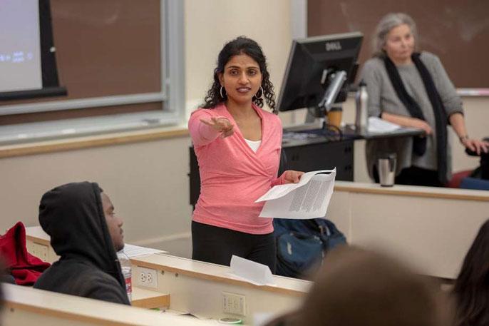 Saru Jayaraman teaching a class