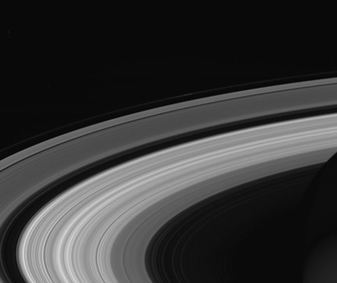 Saturn's rings in close up