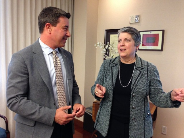 Scott Shafer and Janet Napolitano