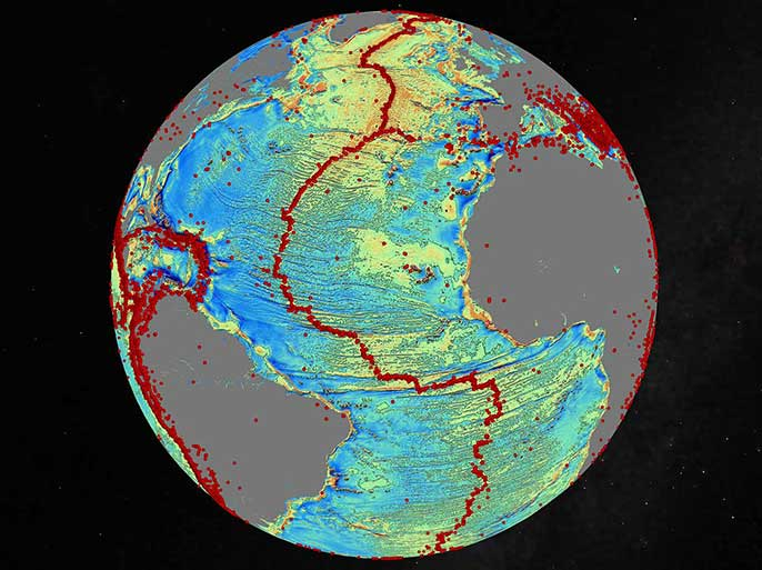 marine gravity model of the North Atlantic