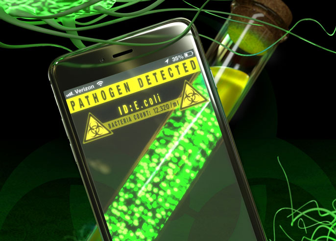 Pathogen detected screen visualization