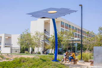 Students at the Solar Chill, UC San Diego campus