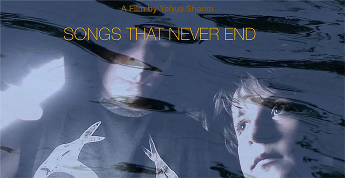 Songs That Never End poster of a child and adult with a watery foreground