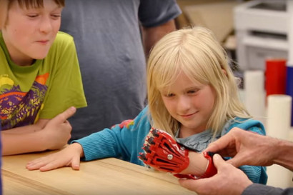 Sophie and her 3-D-printed hand