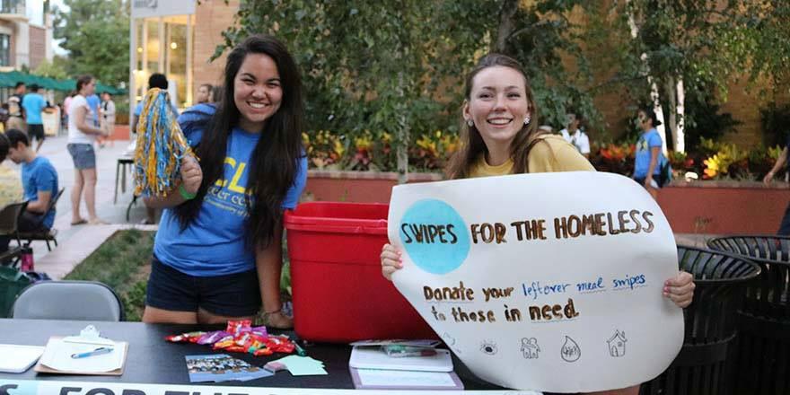 Swipes for the Homeless tabling
