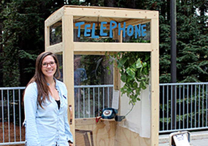 UC Santa Cruz telephone booth