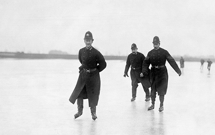 Thames ice skating