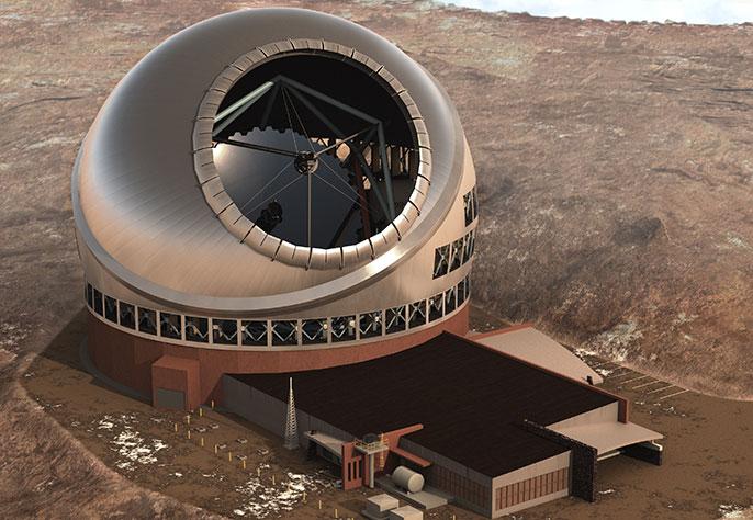 Artist's rendering, Thirty Meter Telescope