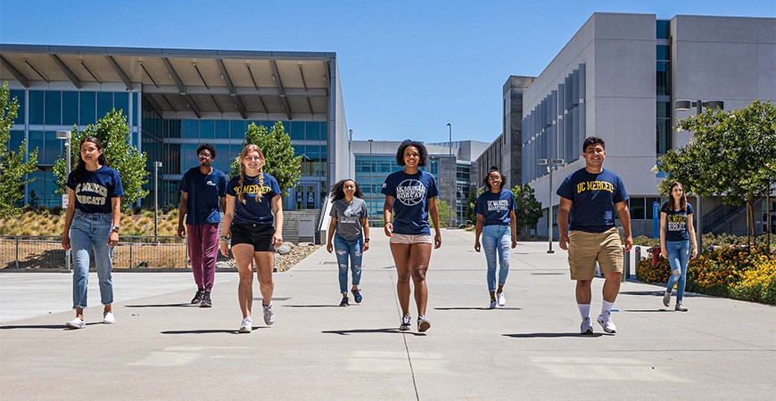 Students on the UC Merced campus