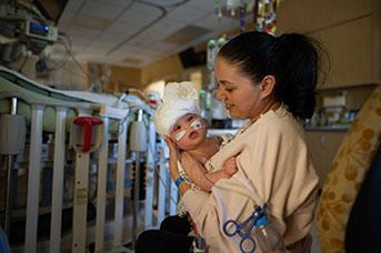 Liliya Bachinskiy with baby