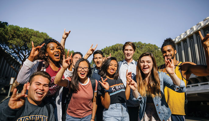 UC Irvine students do the Zot