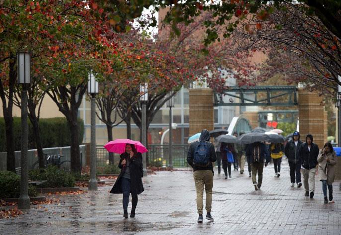 UC Irvine rain