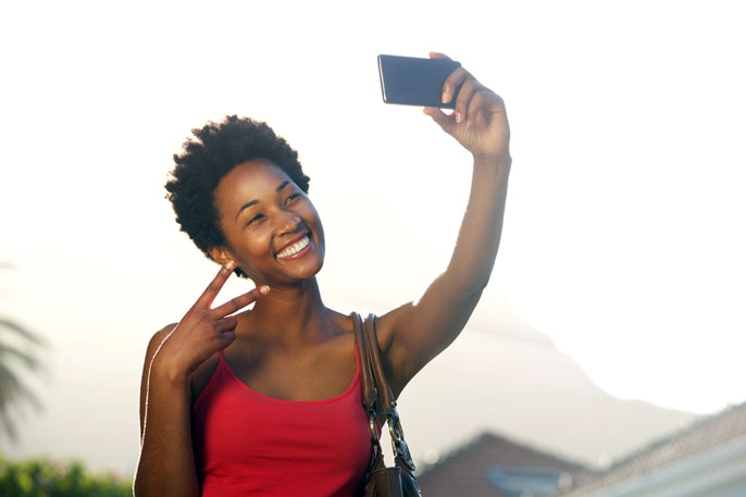 UC Irvine selfies photo camera