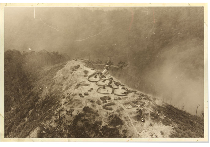 An archival image of a hillside