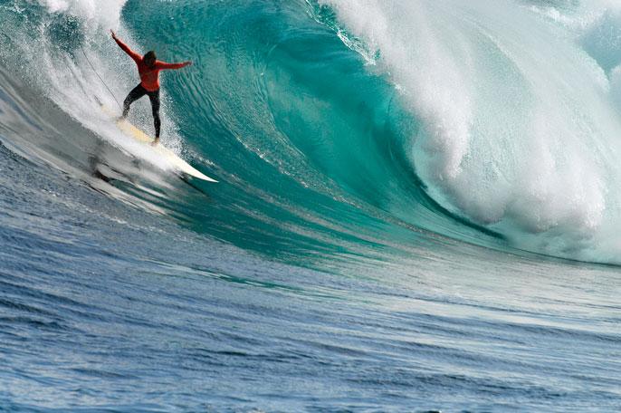 UC San Diego surfer