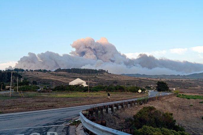 Wildfire in Santa Cruz mountains