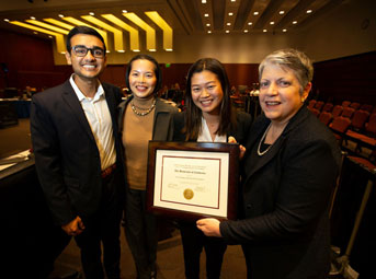 presentation of the award to UC San Diego Student Foundation