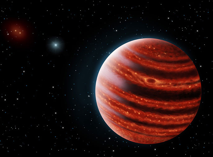 Artist's rendering of Jupiter-like exoplanet