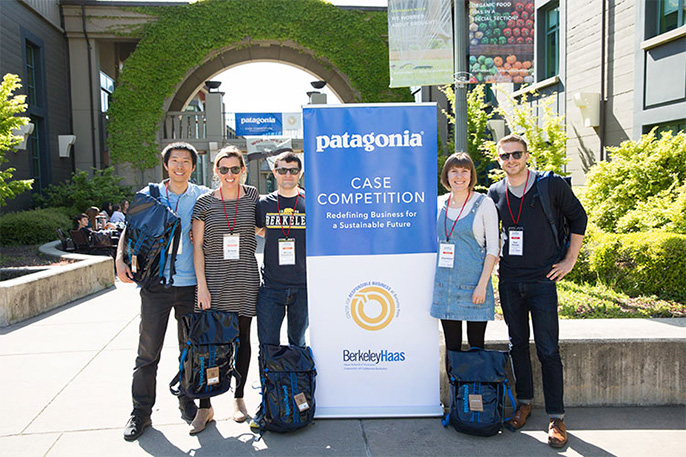 UC Berkeley's Team Greenscape members: Adrian Lu, Ali Ticker, Michael Fleischmann, Olga Ballard, M.B.A. 18; and Ryan Peterson.