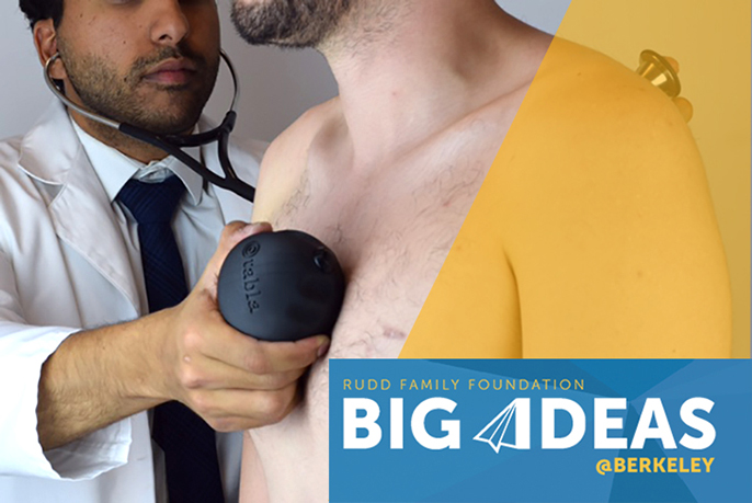 The team that created Tabla, a device that detects pneumonia using sound waves and a stethoscope, received seed funding from Big Ideas@Berkeley to support its project.