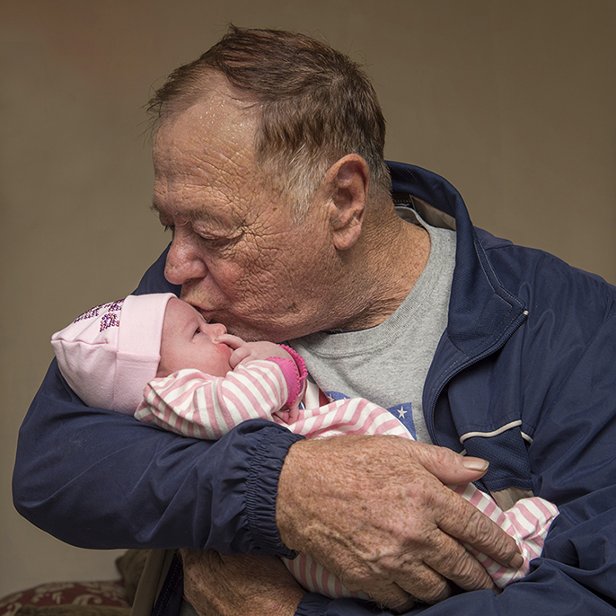 , Buster Halcomb with granddaughter Serenity