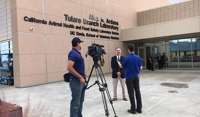 Fresno's ABC 30 interviews John Adaska, branch chief at the new lab.