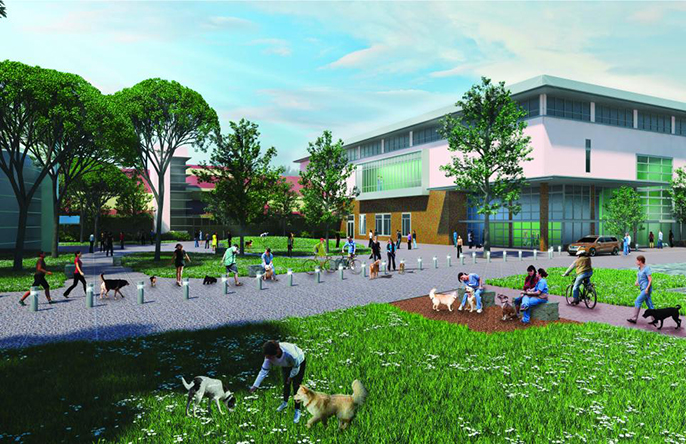 Artist's rendering of the proposed small-animal clinic