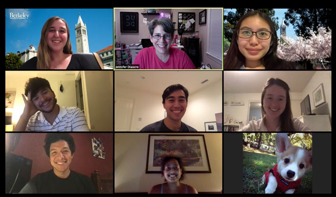Zoom meeting with UCDC students