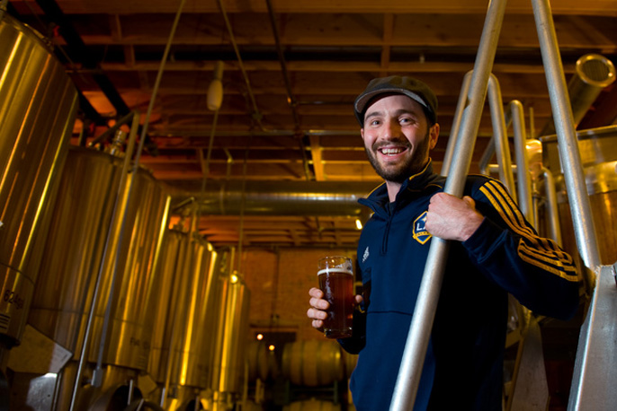 """I wanted to open an interesting place where people want to be,"" says 2008 UC Irvine graduate Brandon Fender, who co-owns The Good Beer Co. and created Anteater Ale. ""Beer, community and a beautiful building – this is the embodiment of my passions."""