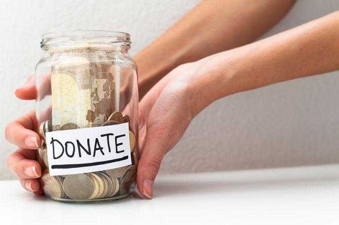 UCLA donation jar