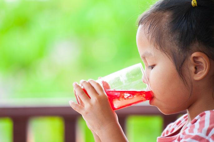 UCLA girl drinking sugary drink