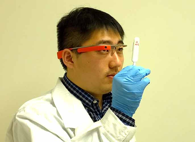 Researcher tests Google Glass