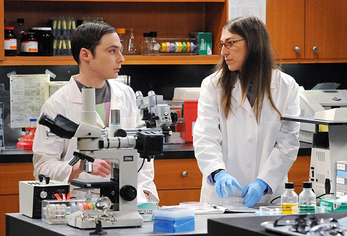 Jim Parsons and Mayim Bialik, 'Big Bang Theory'