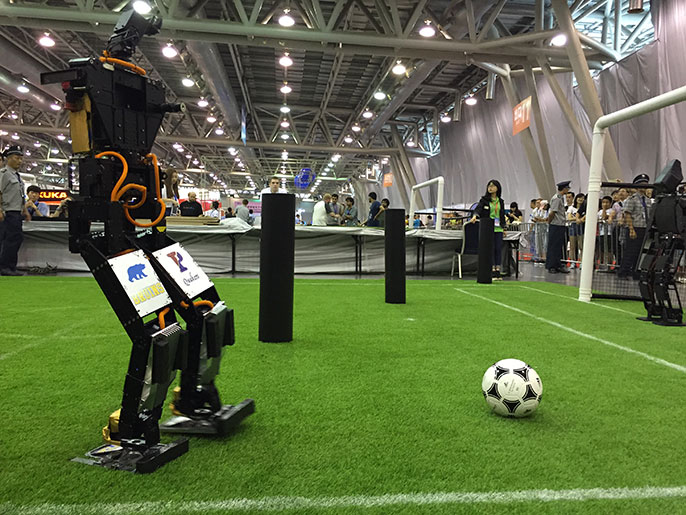 THOR robot on the soccer pitch