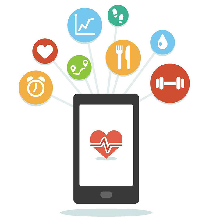 mobile health monitor illustration